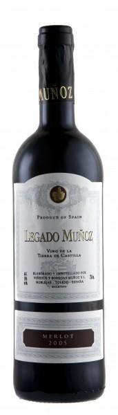 6 x 2017 Legado Munoz Merlot Rotwein Finca Munoz Vino de Tierra de Castilla