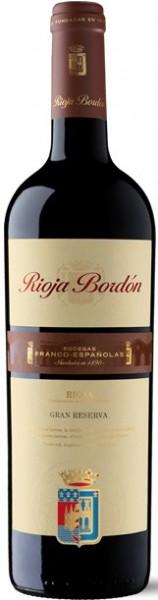6x 2009 Bordon Gran Reserva Rioja Bodegas Franco Espagnolas